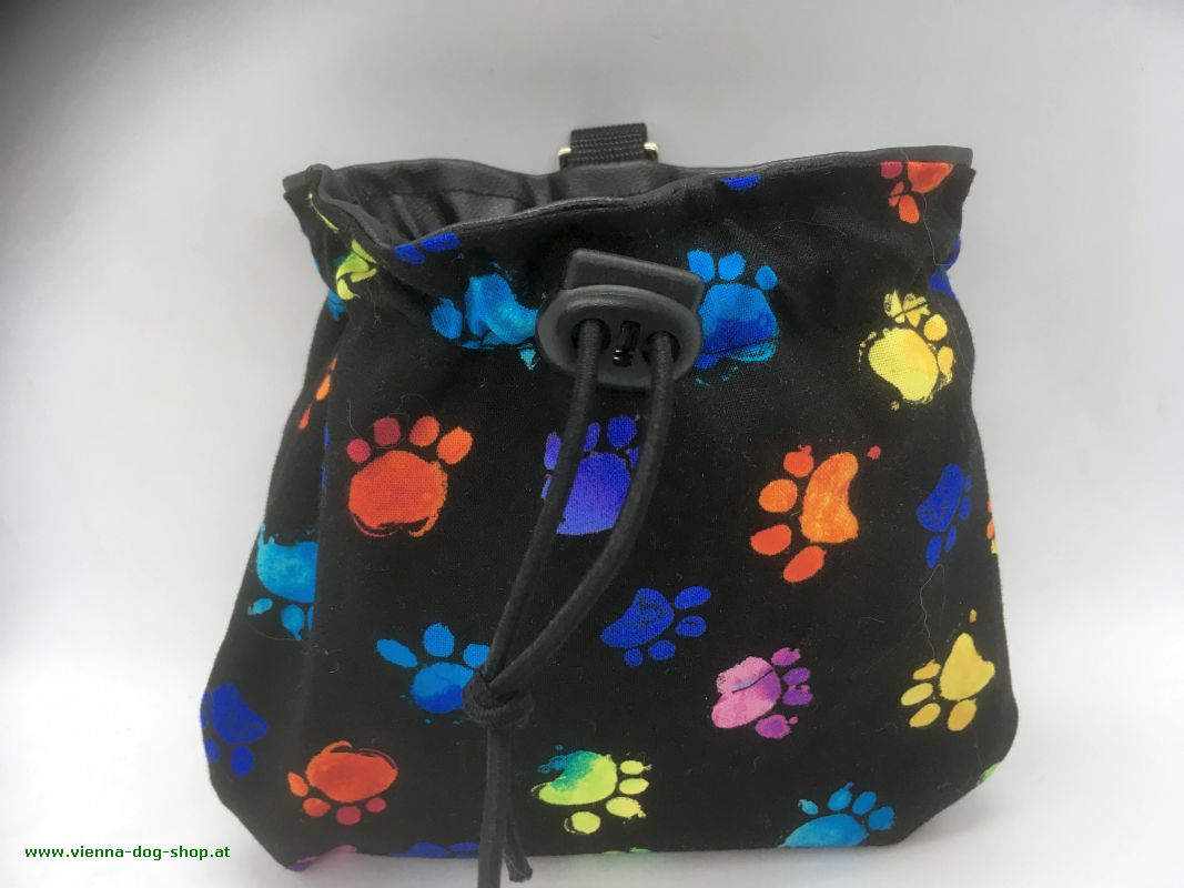 Treat bag COLOR PAWS on black