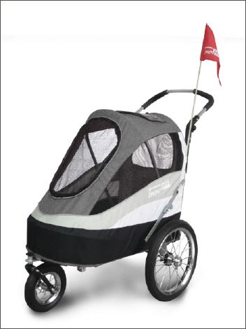 Pet stroller <b>Sporty Trailer</b> for bicycle, air wheels